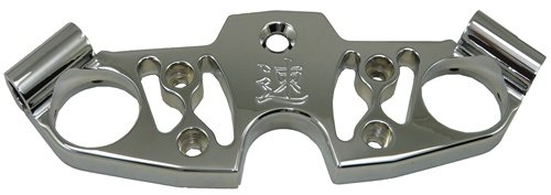 (Yana Shiki CA4267 Chrome Billet Aluminum Triple Tree Top Clamp for Suzuki GSX 1300R Hayabusa)