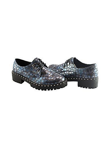 Grippy 11 Blue Shoes up Pattern Women Lace 6 Liyu Skin Adult Oxford Snake 1w0nZ6