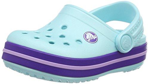(Crocs Kids' Crocband Clog, Ice Blue, 1 M US Little Kid)