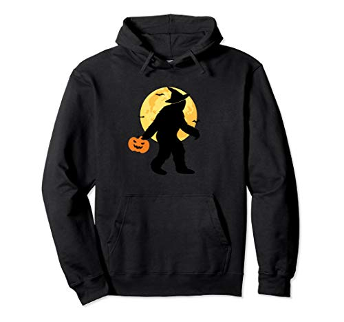 Bigfoot Witch Halloween Costume Hoodie Trick Or Treat Moon