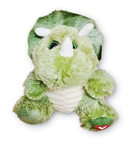A&T Designs Valentine's Day Triceratops Dinosaur Stuffed Animal Plush Doll with Little Red Heart - 6.5 in -