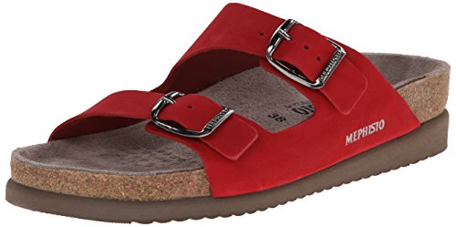 Mephisto Women's Harmony  Sandal, Red Nubuck, 11 M US