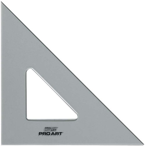 Pro Art 12-Inch 45/90-Degree Triangle, Clear by PRO ART