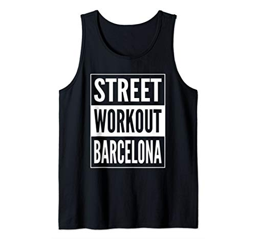 Street Workout Barcelona Urban Fitness Training Design Tank -