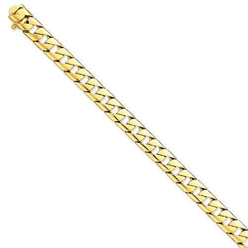 """14 carats 10 mm-poli à la main à fantaisie lien Chain Bracelet - 8 """"- Fermoirs Mousquetons-JewelryWeb"""