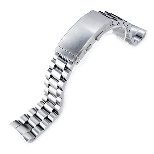 22mm Endmill Watch Bracelet for Seiko New Turtles SRP777 & PADI SRPA21 Ratchet Brushed by Seiko Replacement by MiLTAT (Image #6)