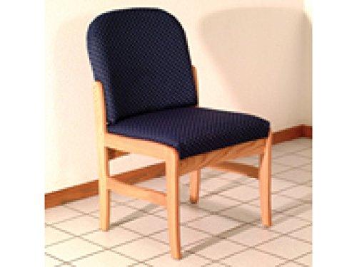 Prairie Series Standard Leg Armless Guest Chair Wood Finish: Light Oak, Fabric: Arch Blue by Wooden Mallet