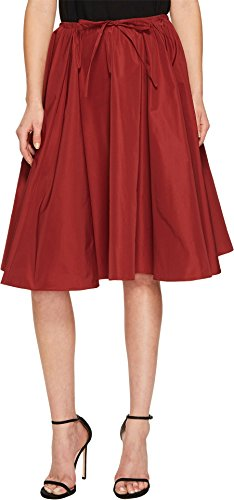 - Jil Sander Navy Women's Faille Skirt with Drawstring Waist Rust 40
