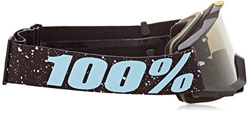 100% kids Cross Lunettes The Accuri Sultan–Argenté/effet miroir Noir/Bleu