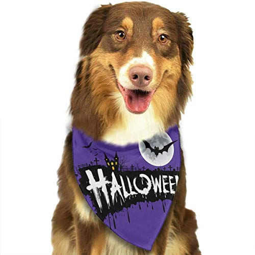 DKFDS Halloween Font Design Triangle Bandana Scarves Accessories for Pet Cats and Dogs - -