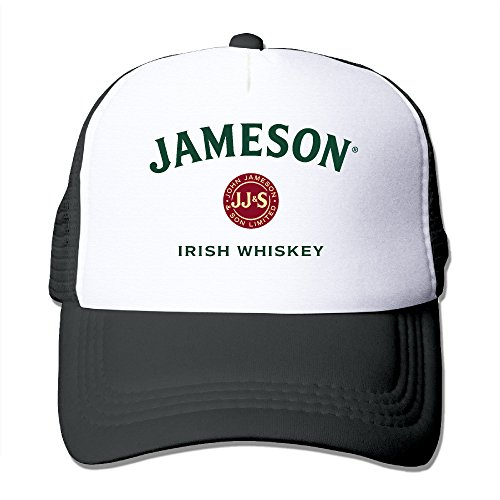 Anport Jameson Irish Whiskey Logo Trucker Mesh Snapback Hat Black (1780 Whiskey Irish Jameson)