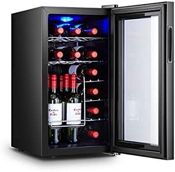 JYXJJKK Vinoteca refrigerada Pequeño gabinete de vino electrónico Hogar refrigerador Oficina Bar Refrigerador Hotel Mostrar bebida Vino Gabinete Familia Cocina Restaurante Cabinete de vino refrigerado