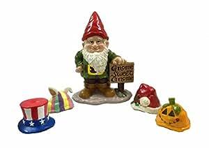 Gnome Greeter Garden Statue W/ Hat Assortment Sculpture