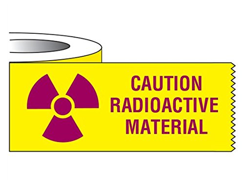 Caution Radioactive Material Tape, 3 x 1 Inch, 500 Inch Roll