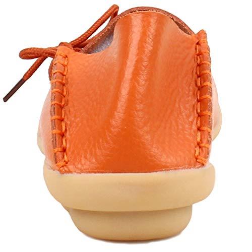 Basso Donna Arancione Fangstoloafer Collo Flats A txwxqfp
