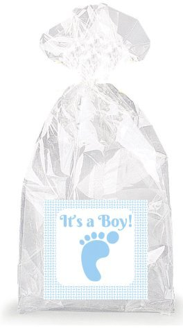 It's a Boy! Footprint Party Favor Bags with Ties - 12pack