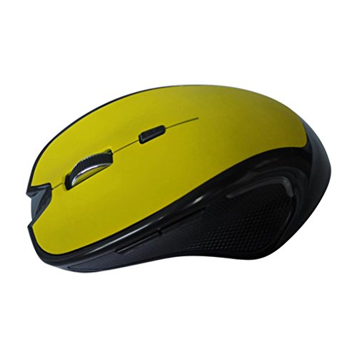 Super Mini Rf Wireless Optical Mouse (Tloowy Wireless Mini Bluetooth 3.0 6D 1600DPI Optical Gaming Mouse Mice for Laptop (Yellow))