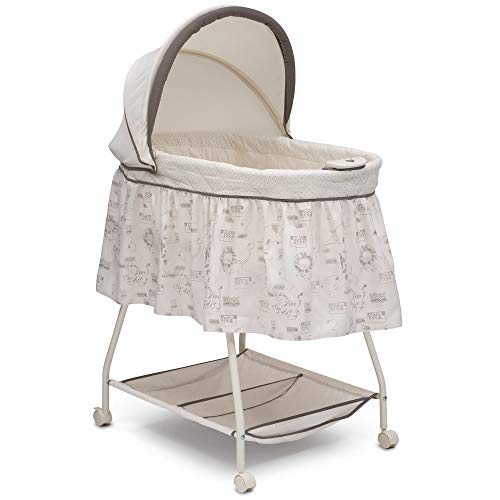 - Delta Children Deluxe Sweet Beginnings Bassinet, Playtime Jungle