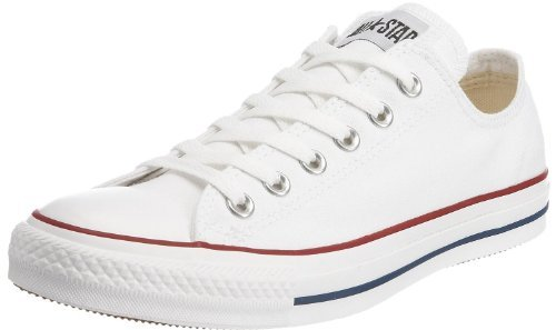 Converse Unisex Chuck Taylor All Star Low Top Optical White Sneakers - 6.5 Men 8.5 Women