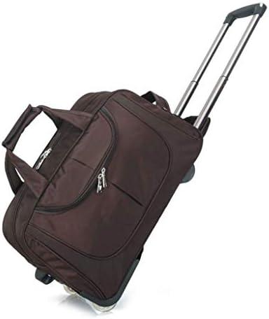 車輪付き防水トラベルバッグ、軽いハンドバッグ、男性と女性、トロリーバッグ、大容量トラベルハンドバッグ18.5インチポケットローリングダッフルバッグ