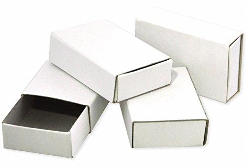 Playbox 55 x 35 x 15 mm Matchboxes (50-Piece, White)