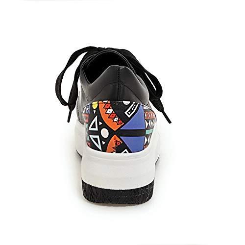 5 Femme Compensées Noir Noir 36 Sandales SDC05805 AdeeSu qpnxZ4Z