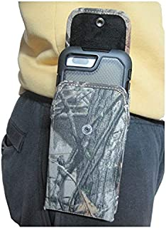 product image for Camouflage Turtleback Extended Vertical Heavy Duty, Rugged Holster Pouch for Galaxy S10+ Plus Otterbox Defender/Commuter Case On Device (Camo-Vertical)