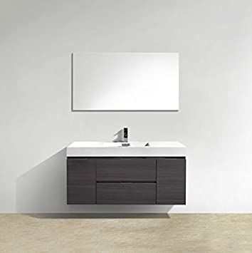 Enovaus Bliss Single Sink Wall Mount Modern Bathroom Vanity Cabinets