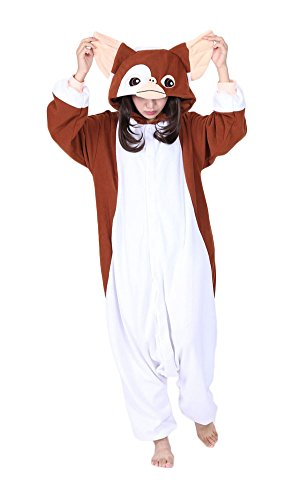 Gizmo Costume For Adults (JSBdress Unique Adult Pajamas One-Piece Animal Cosplay Costumes Gizmo Large)