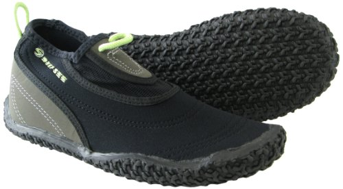 Deep See Women's Beach Walker Water Shoe (Black/Silver/Lime, - Deep Black Water