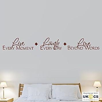 Leben Lachen Liebe Moment Tag Worte Zitat Hall Wand Kunst