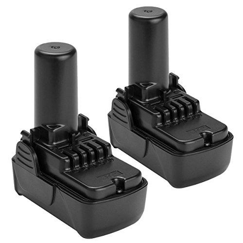 Shentec 2 Pack 10.8V-12V 2.5Ah Li-ion Battery Compatible with Hitachi BCL1015 BCL1015S 331065