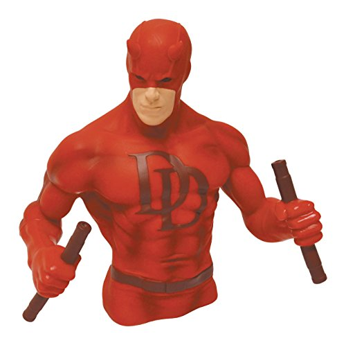 Monogram Daredevil Bust Bank, Red
