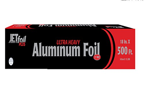 (Party Bargains JetFoil Ultra Heavy Duty Foodservice Aluminum Foil 500ft, 18