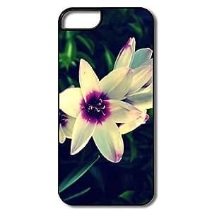 IPhone 5 5S Cases, Garden Flower White/black Case For IPhone 5S by icecream design