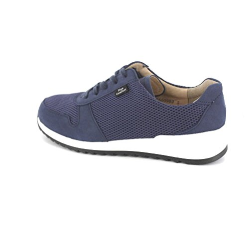 Finn Comfort - Zapatos de cordones de Piel para mujer Azul azul Azul - Denim Patagonia/Skipper