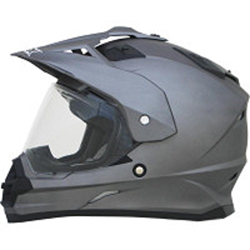 AFX FX-39 Unisex-Adult Full-Face-Helmet-Style Dual Sport Helmet (Frost Gray, (Afx Fx 20 Helmets)