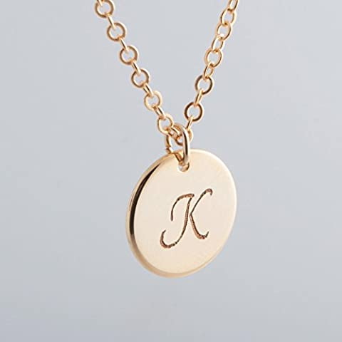 Initial Coin Necklace - Dainty Personalized Delicate Initial Charms Gold Silver Rose gold Plated Disk Necklace Machine Engraving Bridesmaid Wedding mother's day mom - Silver Horse Coin Set