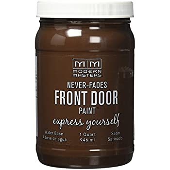 Charmant Modern Masters 275267 Satin Front Door Paint, 1 Quart, Sincere