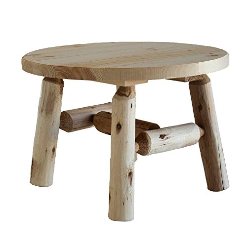 Coffee Table Round Tables for Outdoor and Patio in Natural Solid Wood Log