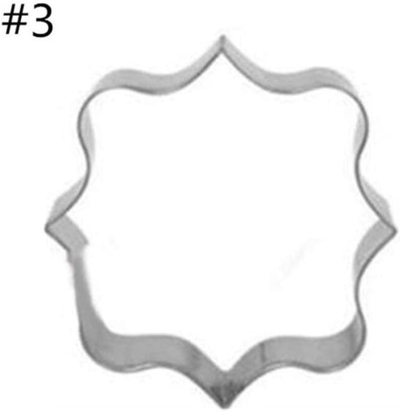 Bbbb Molde De Galleta De Azúcar 3 Piezas De Cortador De Placa Marco De Galletas Diy Pastel Oval Rectángulo Cuadrado Fancy Inoxidable Molde De Galleta Tool C Amazon Es Hogar