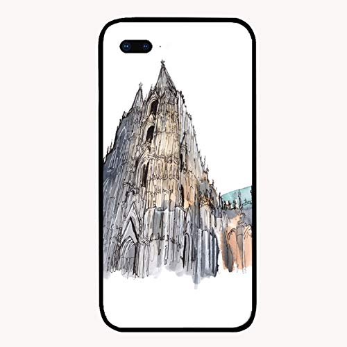 - iPhone 7/8Plus Case,Cologne Cathedral Back Case with Reinforced TPU Bumper Scratch Resistant Hard Back Panel Cover Compatible for iPhone 7/8Plus