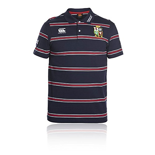 British & Irish Lions Mens Vapodri Wicking Stripe Rugby Polo Shirt