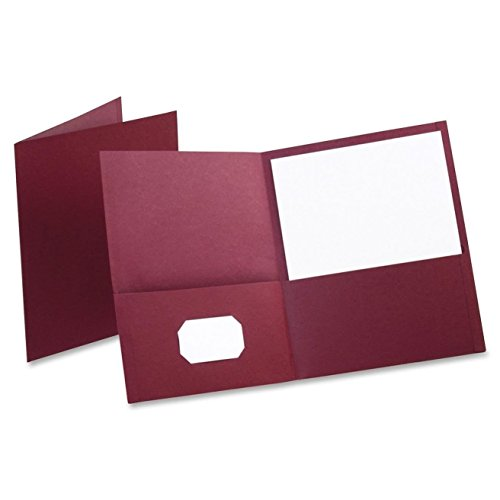 Oxford Twin Pocket Folders, Letter Size, Burgundy, 25 per Box (57557)