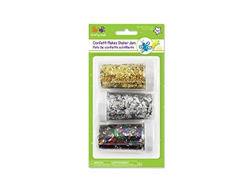 Krafty Kids Confetti Flakes Shaker Jars, 15g, Gold/Silver/Mix