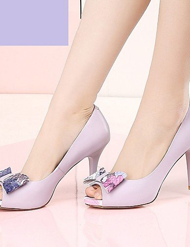 De Y boda Zq sandalias Mujer White Zapatos Confort Punta Gladiador Purple Abierta Cn39 Estilos Eu39 tacones us8 Innovador Oficina tac¨®n Uk6 us8 Tacones Stiletto Fwa56w