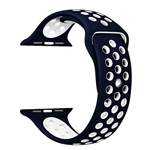 StarMoring Silicone Replacement iWatch NavyBlue