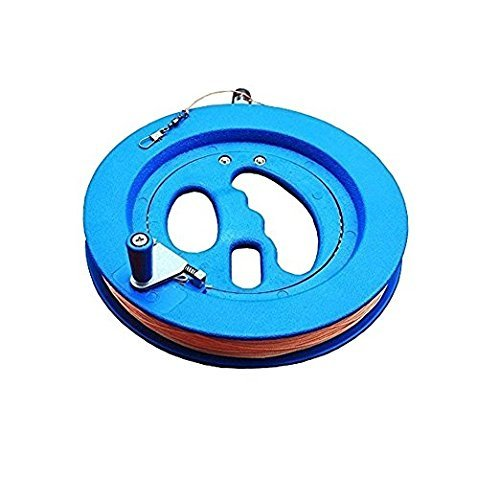 SUPVOX Kite Reel Kite String Line Winder Winding Reel Grip Wheel Handle Flying Tools Professional Outdoor Kite Accessories Blue 16cm