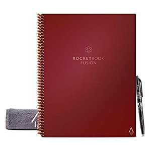 Rocketbook Fusion Smart Reusable Notebook - Calendar, To-Do Lists, and Note Template Pages with 1 Pilot Frixion Pen & 1… 11