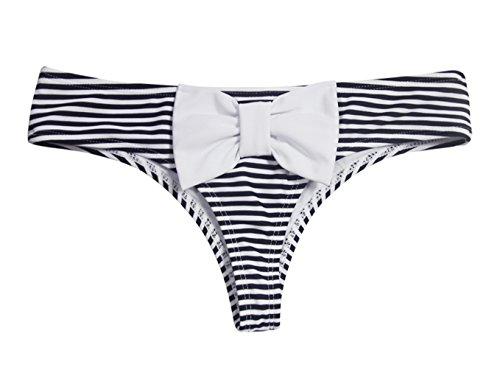 Reizvolle Badebekleidung Bikini Versuchungen Ding keucht weibliche Hose Streifen